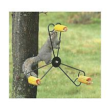 Spinning Squirrel Feeder Rotates Food by Whirley