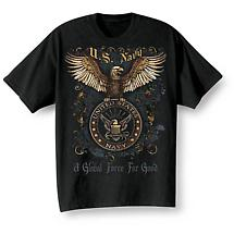 Golden Eagle Military T-Shirts - Navy