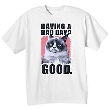 Grumpy Cat Tees- Bad Day