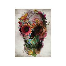 Floral Skull Stretched Canvas