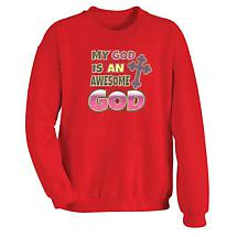 My God Is An Awesome God Hooded Sweatshirt