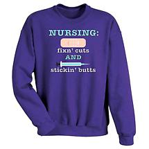 Nursing Fixing Cuts Sweatshirt