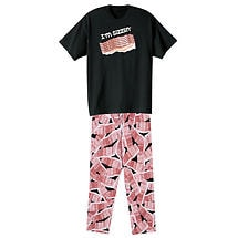 Bacon Lounge Set Cotton Bacon T-Shirt and Cotton Bacon Lounge Pants