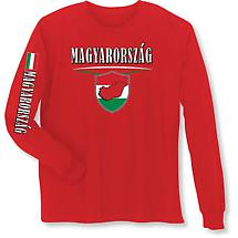 International Long Sleeve T-Shirt- Magyarorszag (Hungary)