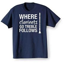 Music Instruction T-Shirt- Clarinets