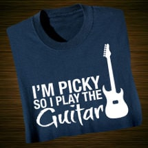 Music Instruction Ladies T-Shirt- Guitar