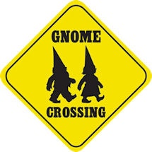 Crossing Gnome Sign
