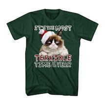 Grumpy Cat It's The Most Terrible Time Of The Year T-Shirt
