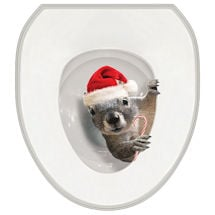 It's A Squirrel! Toilet Tattoo- Santa