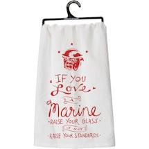 Military Flour Sack Kitchen Towel- Marine (Usmc)