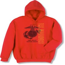 Military Marines Hooded Sweatshirt