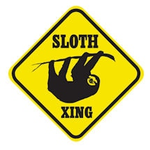 Crossing Sloth Sign