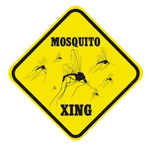 Crossing Mosquito Sign
