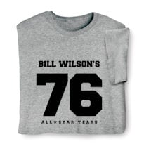 """Personalized """"Your Name & Age"""" Birthday/Retirement All Star Years Shirt"""