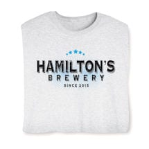 "Personalized ""Your Name & Date"" Brewery Shirt"