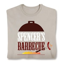 "Personalized ""Your Name"" Barbecue Grill BBQ Lover Shirt"