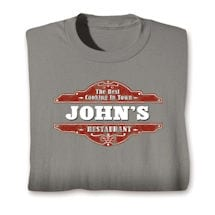 "Personalized The Best Cooking In Town ""Your Name"" Restaurant Shirt"