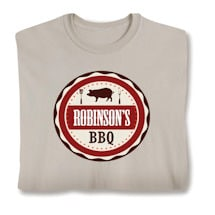 "Personalized ""Your Name"" BBQ Smoker & Griller Shirt"