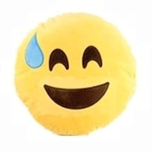 Emoji Working Hard Pillows