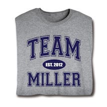 """Personalized """"Your Name & Date"""" Family Team Shirt"""