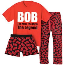 Bob Sleepwear Gift Set With 1 Pair Of Lounge Pants, Boxers & Bob The Man The Myth The Legend T-Shirt