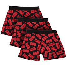 3-Pack Of Bob All-Over Print Men's Cotton Boxers
