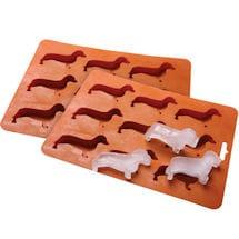 Dachshund Silicone Ice Cube Tray Set Of 2