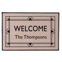 "Personalized ""Your Name"" Doormat - Art Deco"