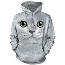 Tie-Dye Green Eyes Cat Hoodie