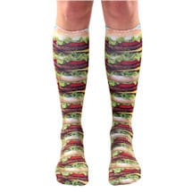 Foodie Knee Highs- Hamburger