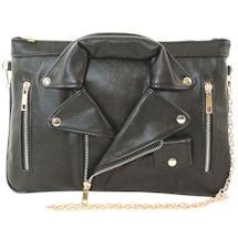 Black Leather Jacket Crossbody