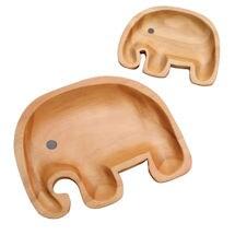 Sustainable Wood Serving Plates- Junior Elephant