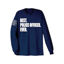 Best Ever Professions Long Sleeve Shirts- Police Officer
