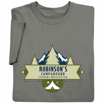 "Personalized ""Your Name"" Camp Ground T-Shirt"