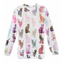 Comic Cat Sublimated Sweatshirt
