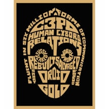 Star Wars™ Typography Canvas Print - C3Po