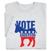 "Personalized ""Your Name"" Election - Donkey Shirt"