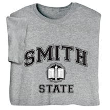 """Personalized """"Your Name"""" State School Shirt"""