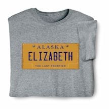 Personalized State License Plate Shirts - Alaska