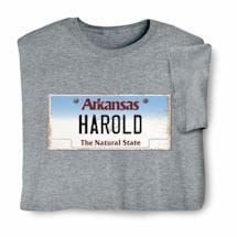 Personalized State License Plate Shirts - Arkansas