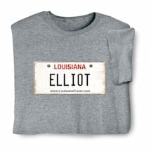 Personalized State License Plate Shirts - Louisiana