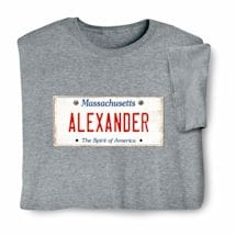 Personalized State License Plate Shirts - Massachusetts