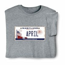 Personalized State License Plate Shirts - Maryland