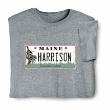 Personalized State License Plate Shirts - Maine