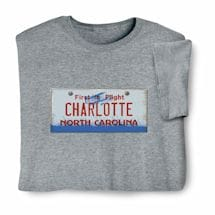 Personalized State License Plate Shirts - North Carolina