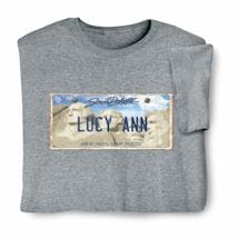 Personalized State License Plate Shirts - South Dakota