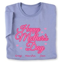 Personalized Happy Mother's Day T-Shirt