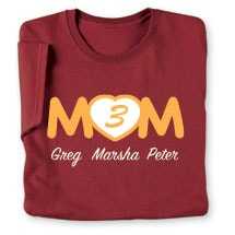 Personalized Mom's Heart Number of Kids T-Shirt - Mother's Day Gift