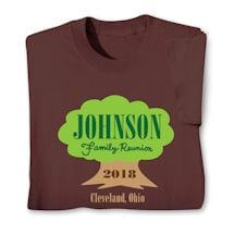Personalized Your Name Family Reunion Tree Roots Shirt