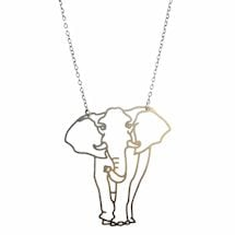 Outline Necklaces- Elephant